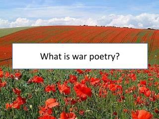 What is war poetry?