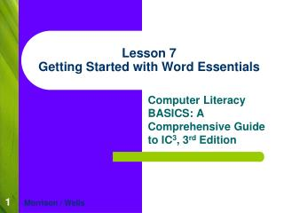 Lesson 7 Getting Started with Word Essentials
