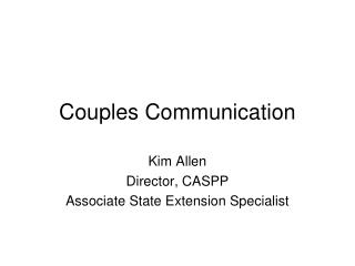 Couples Communication