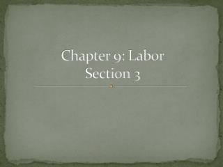 Chapter 9: Labor Section 3