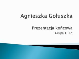 Agnieszka  Gołuszka Prezentacja końcowa