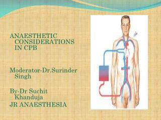 ANAESTHETIC CONSIDERATIONS IN CPB  Moderator- Dr.Surinder  Singh By-Dr  Suchit Khanduja