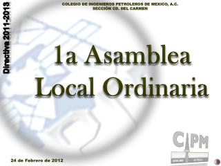1a Asamblea Local Ordinaria