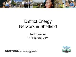 District Energy Network in Sheffield