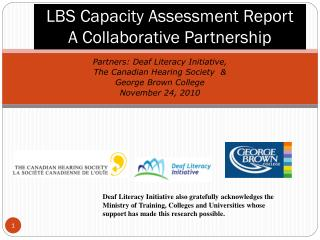 LBS Capacity Assessment Report A Collaborative Partnership