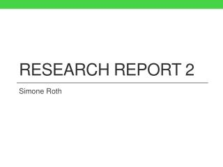 Research report 2