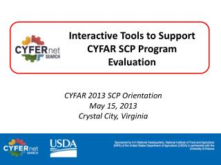 Interactive  Tools  to Support  CYFAR SCP Program  Evaluation