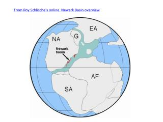 From Roy Schlische's online Newark Basin overview