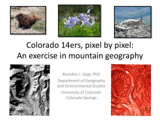 Colorado 14ers, pixel by pixel: An exercise in mountain geography
