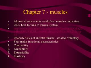 Chapter 7 - muscles