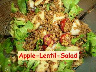 Apple- Lentil - Salad