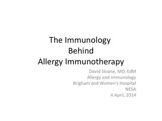 The Immunology Behind Allergy Immunotherapy