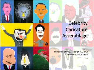 Celebrity Caricature Assemblage