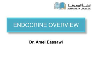 ENDOCRINE OVERVIEW