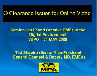 © Clearance Issues for Online Video