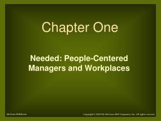 Needed: People-Centered  Managers and Workplaces
