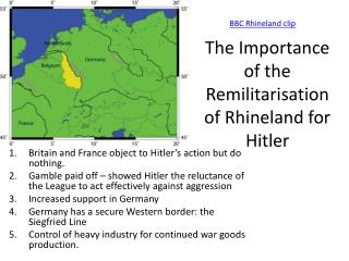 The Importance of the Remilitarisation of Rhineland for Hitler