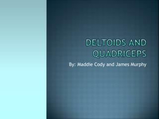 Deltoids and Quadriceps