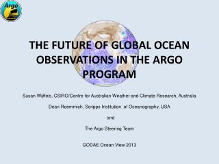 The Future of Global Ocean Observations in the Argo Program