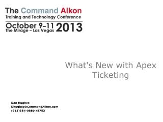 What's New with Apex  Ticketing