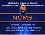 NCMS  the Industrial Security Professional ISP Certification Preparation