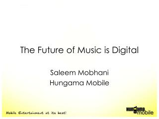 The Future of Music is Digital