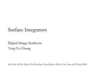 Surface Integrators