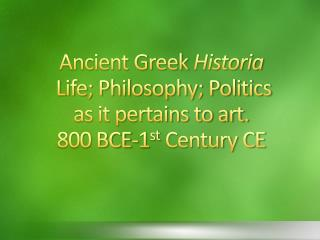 History: Beginnings of Western Civilization Greeks called themselves Hellenes Ethnicity