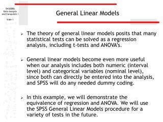 General Linear Models