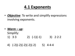 4.1 Exponents