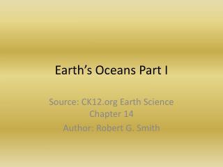Earth's Oceans Part I