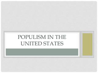 Populism in the United States