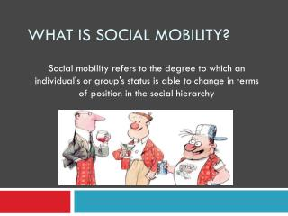 What is social mobility?