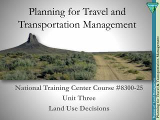 Planning for Travel and Transportation Management