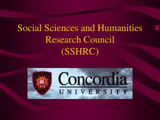 Social Sciences and Humanities Research Council  (SSHRC)