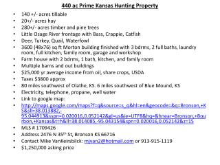 440 ac Prime Kansas Hunting Property