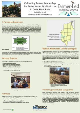 Cultivating Farmer Leadership  for Better Water Quality in the          St. Croix River Basin