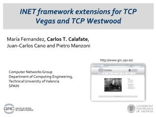 INET framework extensions for TCP Vegas and TCP Westwood