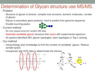 Determination of Glycan structure use MS/MS .