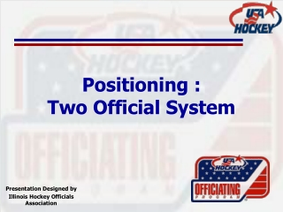 Referee Position:  3 Official System