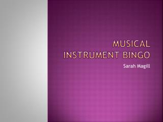 Musical instrument bingo
