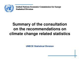 Summary of the consultation  on the  r ecommendations  on climate change related statistics