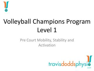 Volleyball Champions  Program Level 1