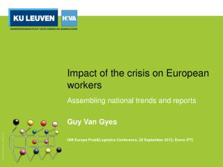 Impact of the crisis on European  workers
