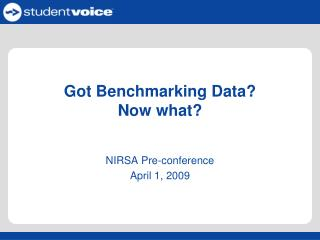 Got Benchmarking Data?  Now what?