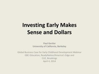 Investing Early Makes  Sense and Dollars