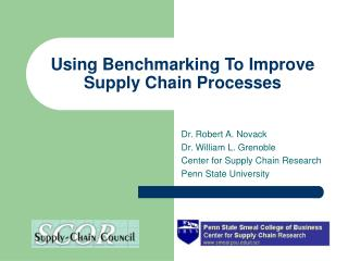 Using Benchmarking To Improve Supply Chain Processes
