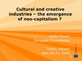 Cultural and creative industries   the emergence of neo ...