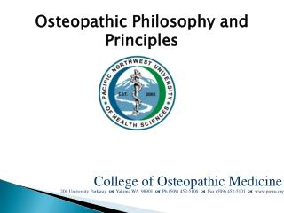 Osteopathic Philosophy and Principles