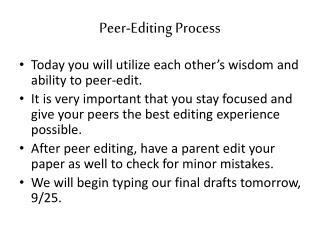 Peer-Editing Process